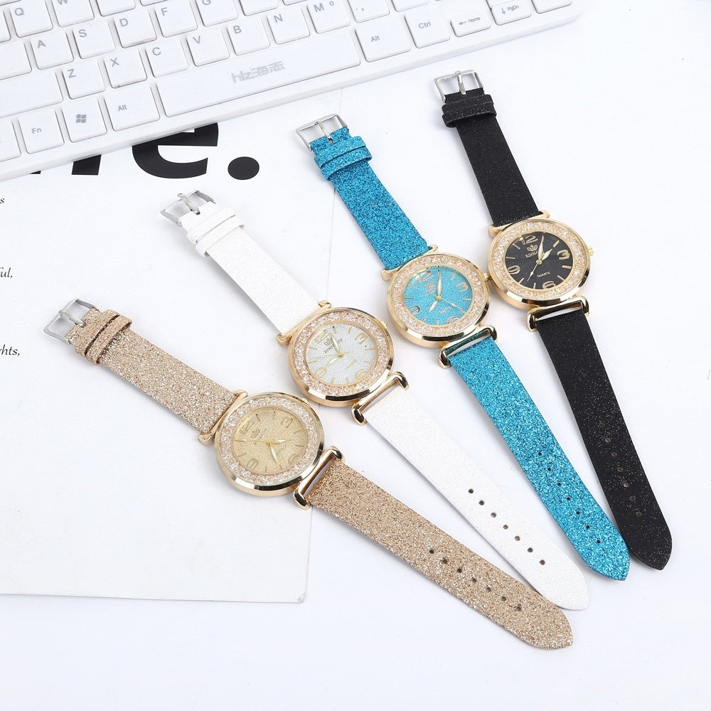 Fashion Watch Women Watch Crystal Stainless Steel Analog Quartz Wrist Watch