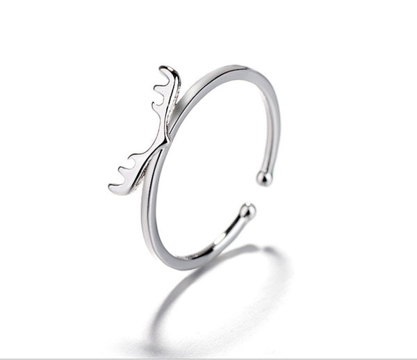 Antler Ring Female Open Sen Creative Moose Ring