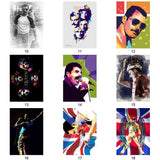 Fancy Freddie Mercury Poster Rock Queen Painting Cartoon Pop Art Vintage Wall Sticker for Coffee House Bar