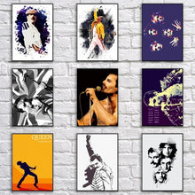 Load image into Gallery viewer, Fancy Freddie Mercury Poster Rock Queen Painting Cartoon Pop Art Vintage Wall Sticker for Coffee House Bar