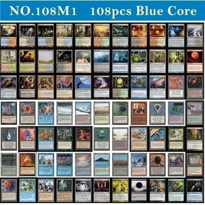 Hot Sell NO. 108M1 MTG Proxy Cards 108pcs Magic The Gathering Cards P9 Dual Land Fetch Land Shock Lands Blue Core