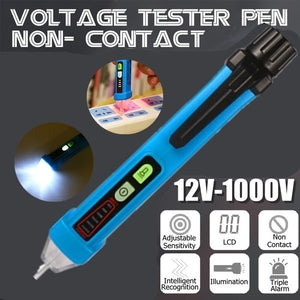 Multifunctional Non-Contact AC Voltage Tester Current Voltage Detector Auto Power Off  Electrical Test Pencil Induction Pen (Random Color)