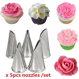 Leaf Flower Icing Piping Cake Nozzles Stainless Steel Pastry Cake Decorating Tools For Baking Chocolate Cookies Molds