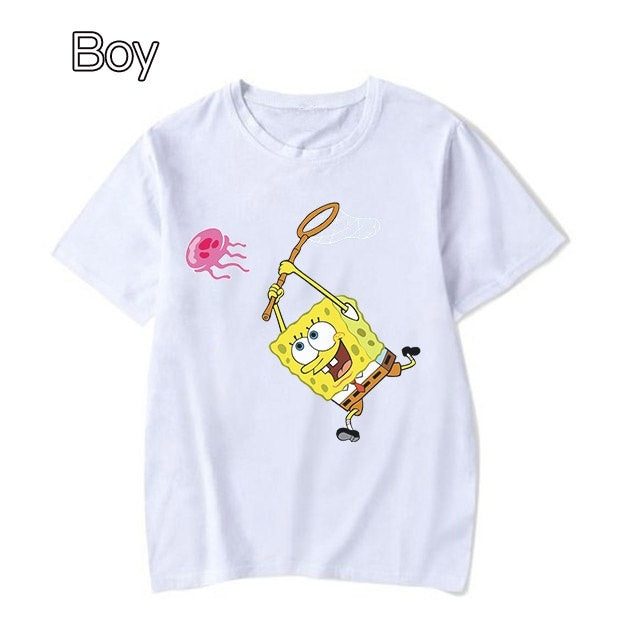 T Shirts Woman SpongeBob Casual Shirt Hipster Tops Women Fashion Clothing Tee SpongeBob SquarePants T-Shirt Summer Tops