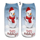 Fashionable Cute 3D Printed Christmas Ladies Casual Socks Cute Mid-Low Ankle Socks Fashion Mall Kawaii Ankle Women Cute Art Women Socks Girls Gift Accessories