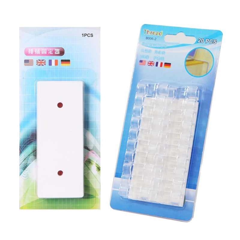 Magic Plug Holder Seamless Punch-free Plug Sticker Wall Fixer Power Strip Holder for Sockets
