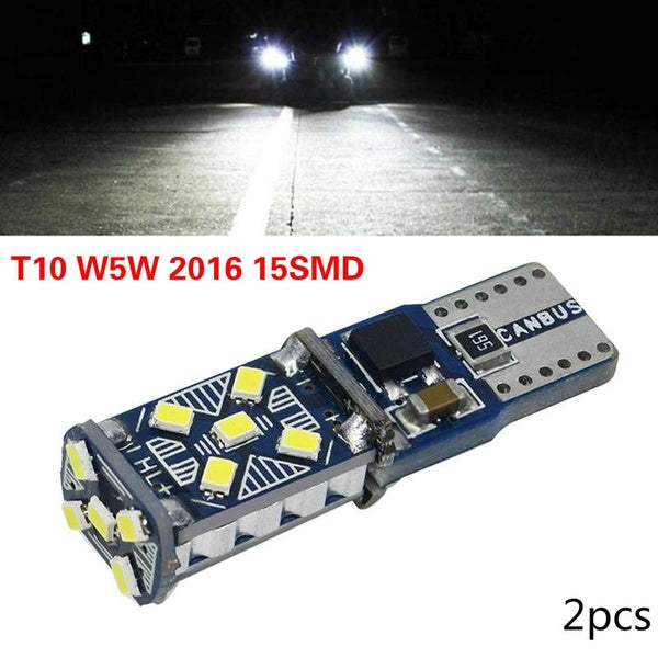 2PCS  New car T10 Width Light W5W 2016 15SMD Highlight Decode Induction Light