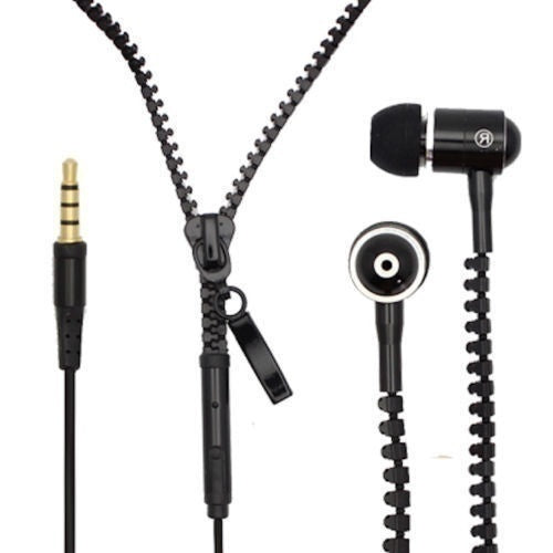 3.5mm Trend Zipper Headphone Earphones Headset Zipper Earphones Cell Phone Accessories