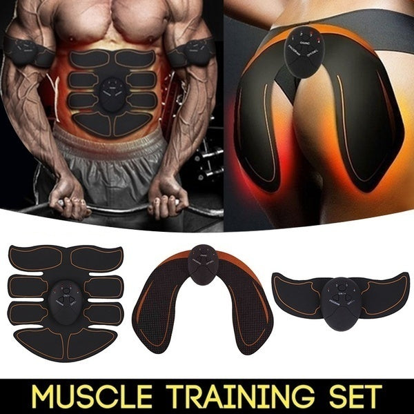 EMS Muscle Training Gear Remote Control Muscle Trainer Fat Burning Smart Body Building Fitness Kits(4 Style Can Choice)