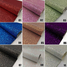 Load image into Gallery viewer, 1PC 20x15cm PU Leather Fabric Shiny Sequins Sheets Glitter Patchwork Handmade Sewing Material DIY Accessories