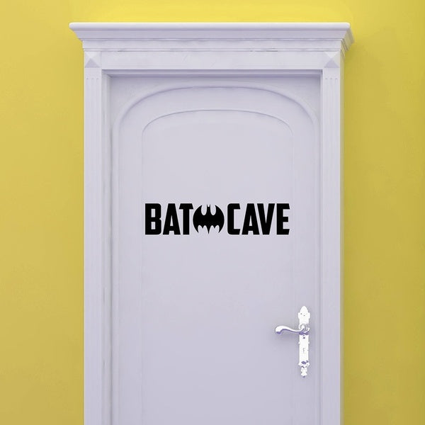 Little Boy Man Cave Wall Stickers Bathroom Decoration Batman Pattern Vinyl Decals Mural Toilet Sticker House Ornament