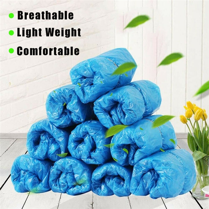 100/200/300PCS Disposable Shoe Cover Cleaning Overshoes Boot Covers Plastic Waterproof