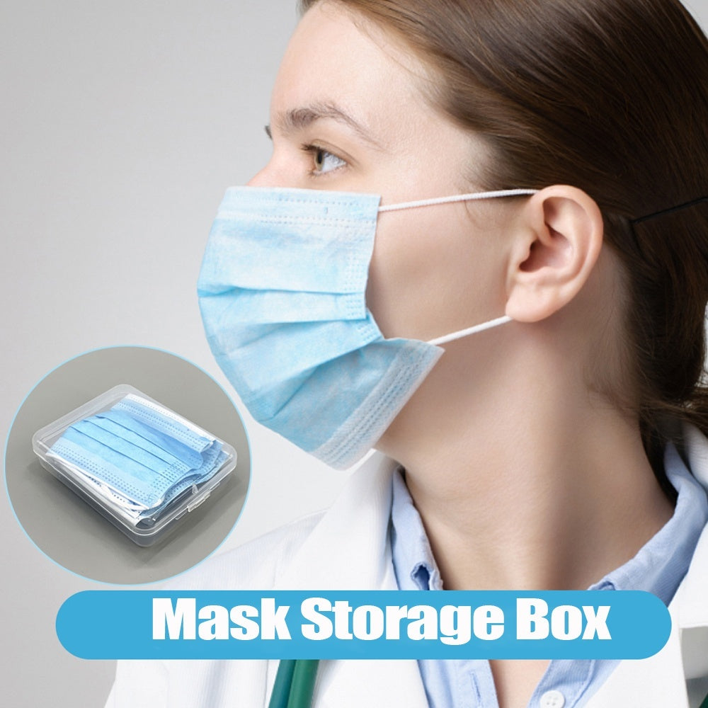 Hot Portable Transparent Safe Dustproof Pollution-Free Face Masks Container Mask Storage Box