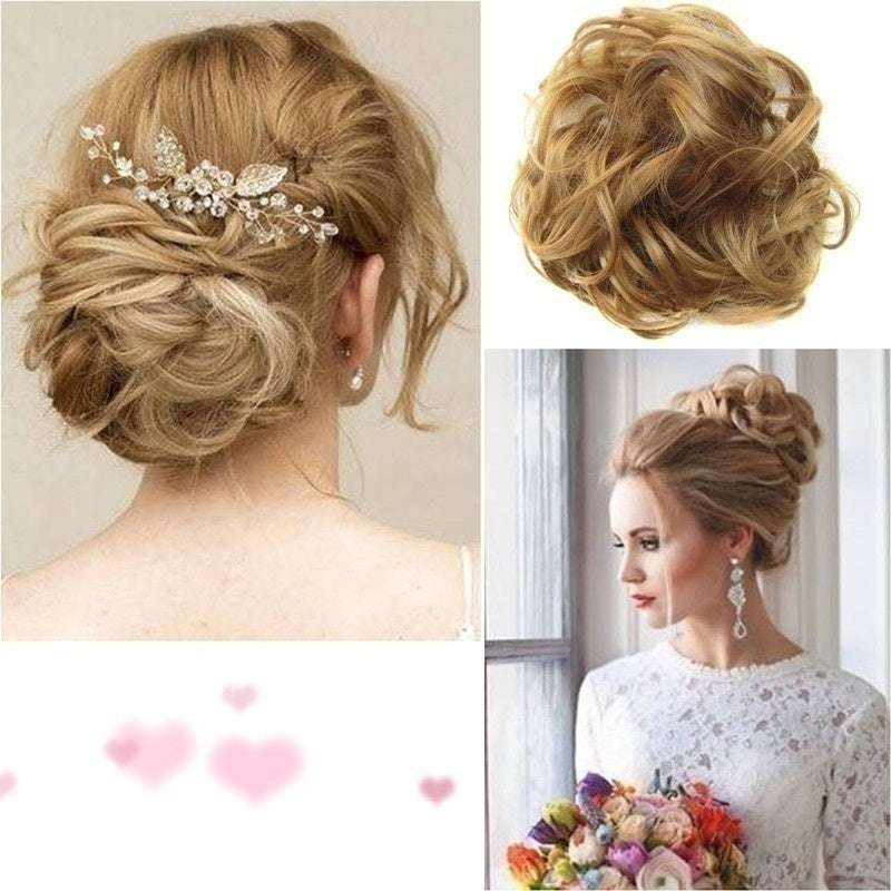 1Pcs Women Hairpiece Lot Synthetic Fiber Pony Tail Hair Wig Bun Scrunchie