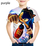 2020 New Sonic the Hedgehog T Shirt Going Out Street Casual Clothes for Kids 3d Print T Shirt Cartoon Tops Tees