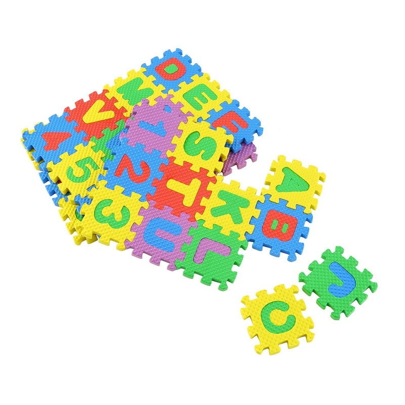 Colorful Puzzle Kid Educational Toy A-Z Alphabet Letters Numeral Foam Mat