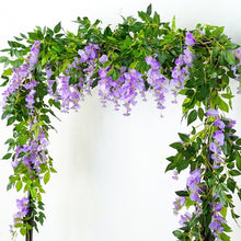 Load image into Gallery viewer, 2M Wisteria Artificial Flowers Vine Garland Wedding Arch Decoration Fake Plants Foliage Rattan Trailing Faux Flowers Ivy Wall