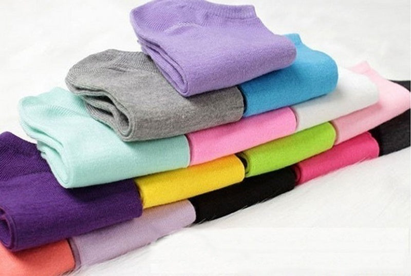 Women Comfortable Candy Color Cotton Sock Slippers Short Socks Fashion Ankle Socks Prefect  Random Color