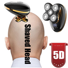 Load image into Gallery viewer, 360¡ã 5D Electric Men Bald Shaver Razor Beard USB Rechargeable Cordless Hair Trimmer Clipper Groomer 5 Head