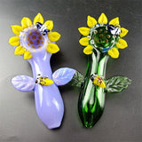 Glass Spoon Pipes glass pipe sunflower Smoke pipe for smoking hand made pipes Factory direct rapid transit