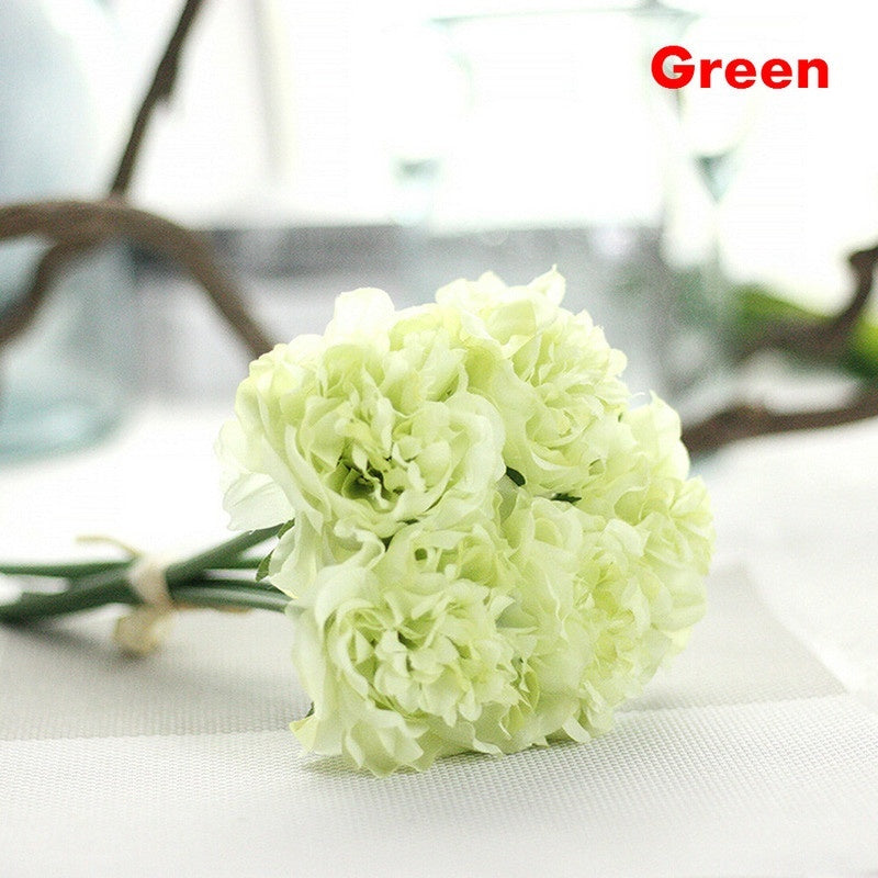 Silk Rose Hydrangeas Artificial Flowers Wedding Flowers for Bride Hand Blooming Silk Peony Flowers Home Decoration 5 Colors Optional