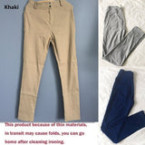 5 Colors Size XS~3XL Women Stretch Sexy Hips Long Trousers Elastic Hips Pants Slimming Leggings Sports Yoga High Waist Pockets Casual Pants Hosen Jeans Femme