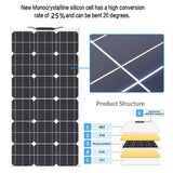 25%+ High Efficiency 600W 2*300W Solar Panel Flexible Solar Panel Solar Controller Regulator for RV/Boat/Car/Home 5V/12V/24V Battery Charger