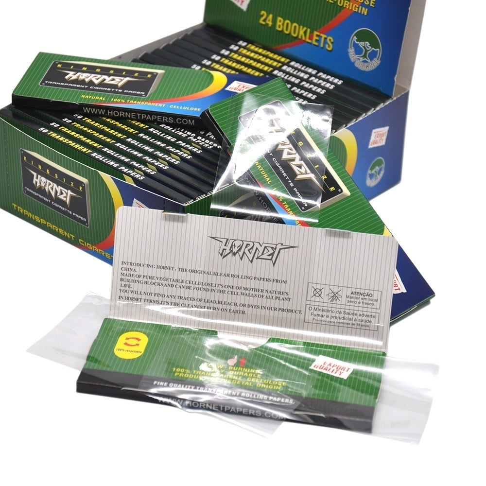 HORNET HD Transparent Cigarette Rolling Paper Slow Burning Strong Rolling Paper 78mm/110mm