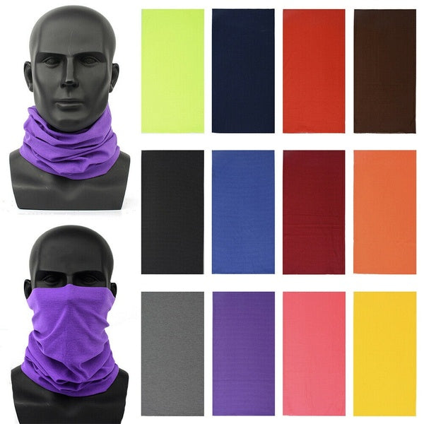 US Bandana Head Face Mask Neck Gaiter Snood Headwear Beanie Tube Scarf Unisex