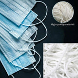 5m/30m/50m/100m Round Elastic Band Cord Ear Hanging Sewing for Mask 3mm