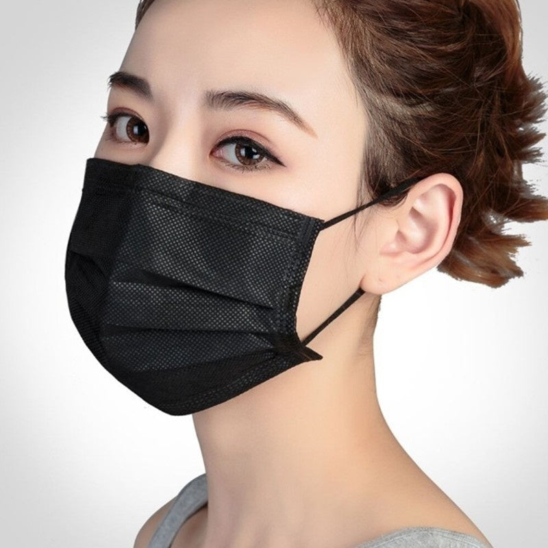 Disposable Mask Three-Layer Protection Design Hypoallergenic Dustproof Windproof Mask  100Pcs