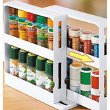 Home Multifunction Rotating Jars Spice Rack Kitchen Storage Rack Holder Organizer New