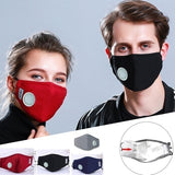 Breath Valve KN95 Mouth Mask Influenza, Anti-Dust Anti Pollution Mask Cloth Activated carbon filter respirator