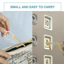 Load image into Gallery viewer, 2pcs Contactless Safety Door Opener Safety Protection Isolation Brass Key Door Opener