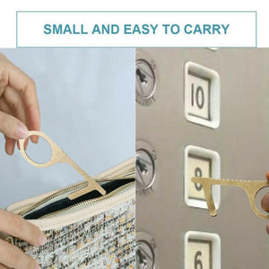 2pcs Contactless Safety Door Opener Safety Protection Isolation Brass Key Door Opener