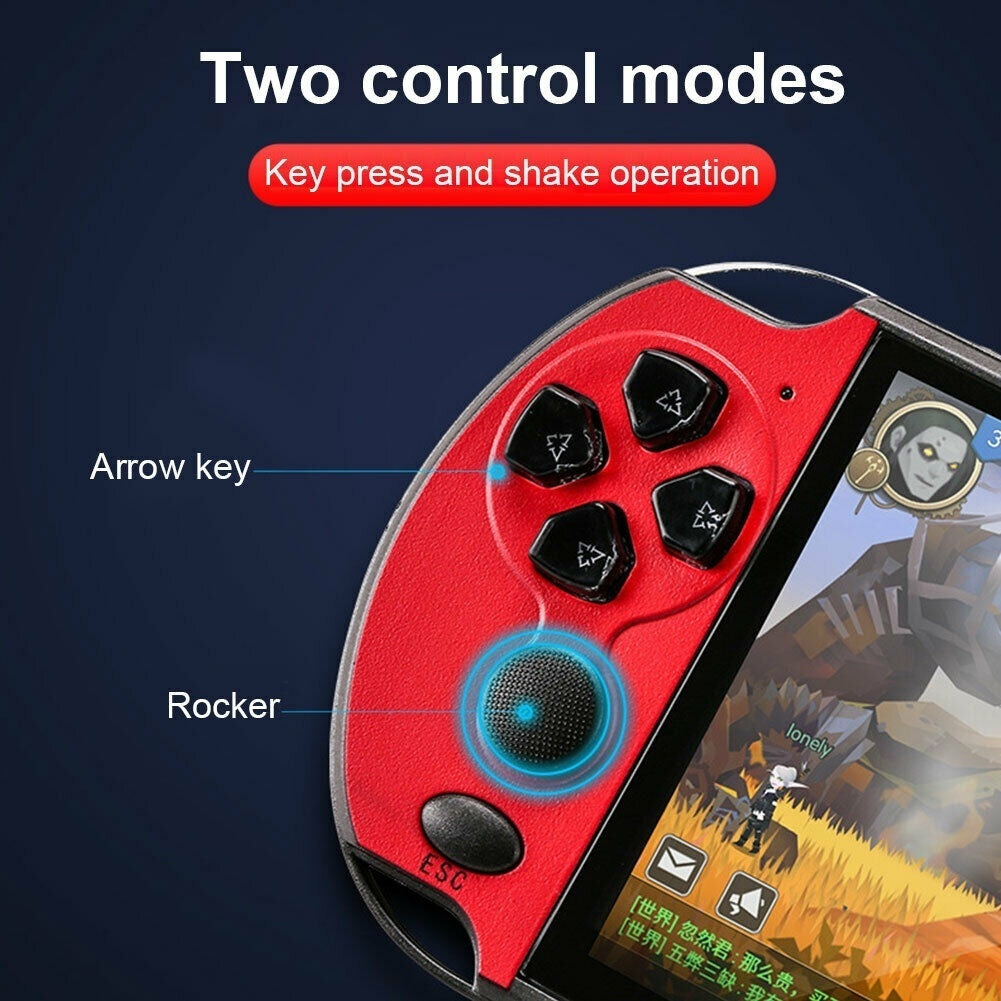2020 New Upgrade 5.1inch Hand-held Gaming Player 8GB ROM PSP Console Hand Game Machine Built-in 3000+ Games PK Nintendo Switch
