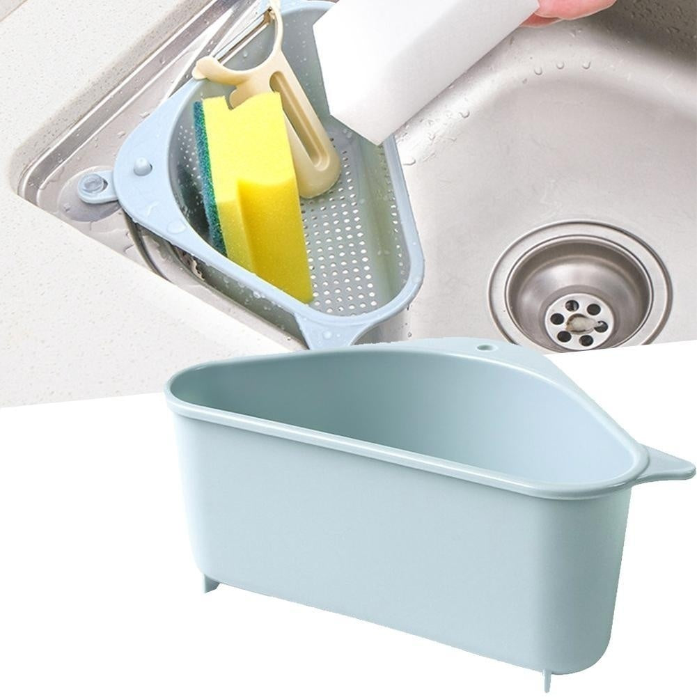 1Pcs Triangle Storage Holder Multifunctional Kitchen Sucker Drain Shelf Storage Rack
