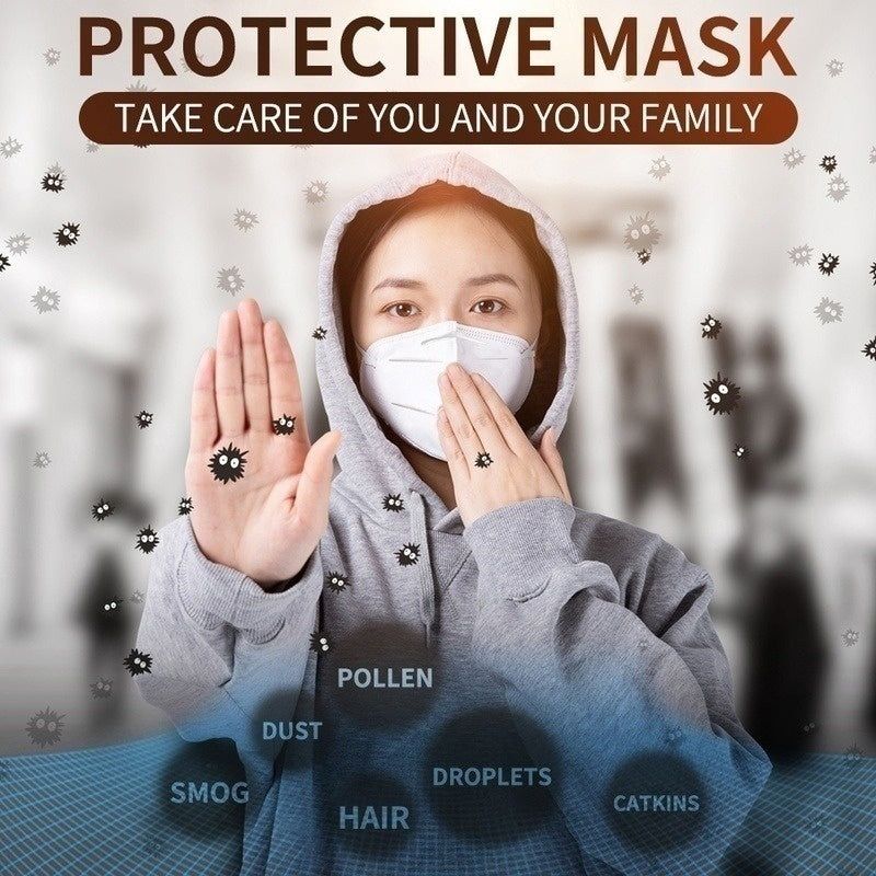 20PCS KN95 Face Mask Dust Mask Anti Pollution Masks PM2.5 Activated Carbon Filter Insert Can Be Washed Reusable
