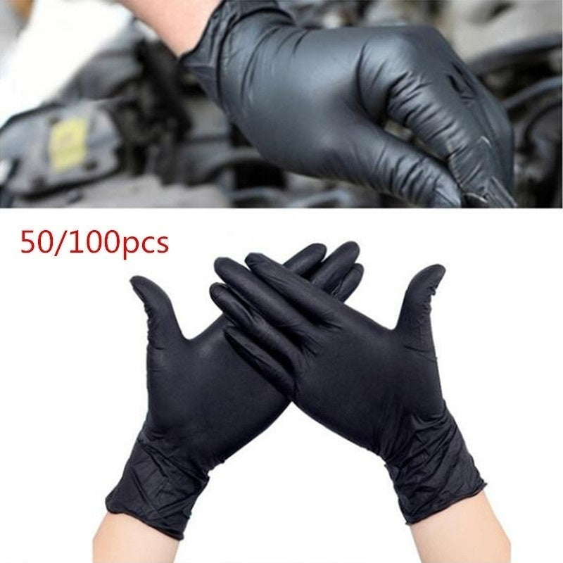 50/100 PCS Disposable Mechanic Gloves Black Nitrile Gloves Tattoo Glove Silicone BN