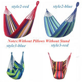 3 Style Colorful Hanging Fabric Hammock Chair Swing Outdoor Seating Camping Garden (Without Pillows Without Stand)