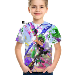2020 New Summer kids fashion style t shirt  3D printed  cartoon Splatoon kids tops casual shortsleeve t shirt