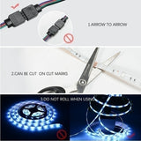 BRAND HJFA Bluetooth 5050 RGB LED Strip Lights Works APP Control ,Waterproof WiFi Sync with Music, 16 Million Colors LED Lights for Home, Kitchen, TV, Party(1m/2m/3m/4m/5m)