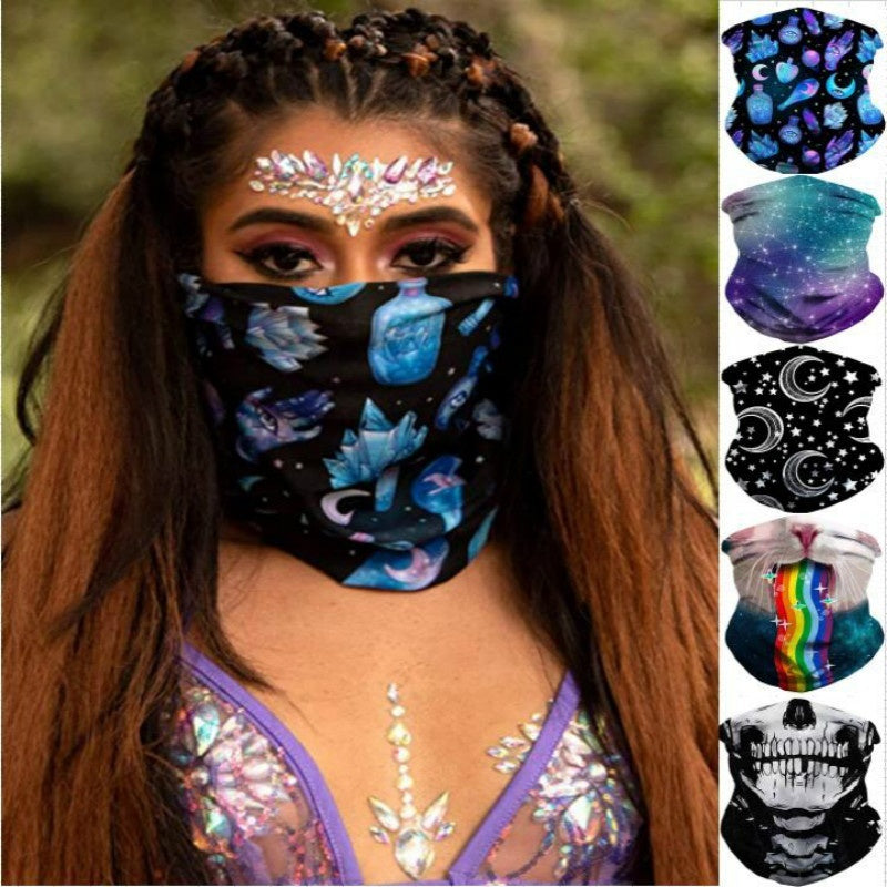 Women and Men Seamless Face Bandanas carf for Dust, Outdoors, Festivals, Sports