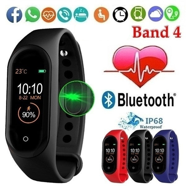 M4 Smart Band 4 Fitness Tracker Watch Sport Bracelet Heart Rate Blood Pressure Smartband Monitor Health Wristbands PK Mi Band 4
