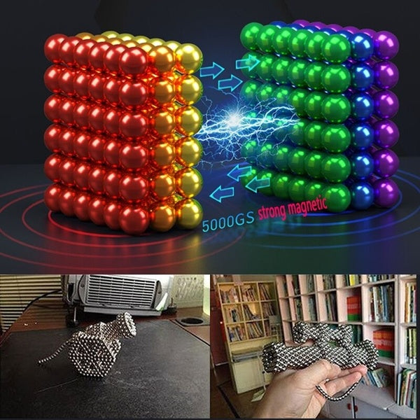 New 3/5mm 216 Magnetic ball leisure puzzle magnetic beads creative decompression color magnetic ball holiday gift