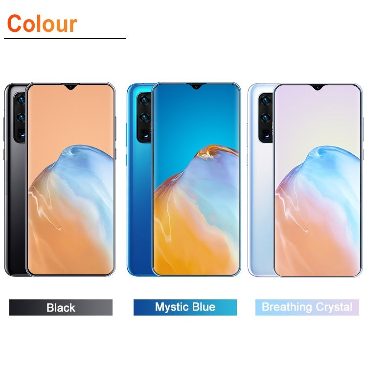 2020 New 4G 5G High Version Smartphone P41pro 6.7 Inch Smartphone Full Screen with 8GB+512GB Large Memory Android Mobile Phone Touch Screen DualCard Face Recognition Mobile Phone
