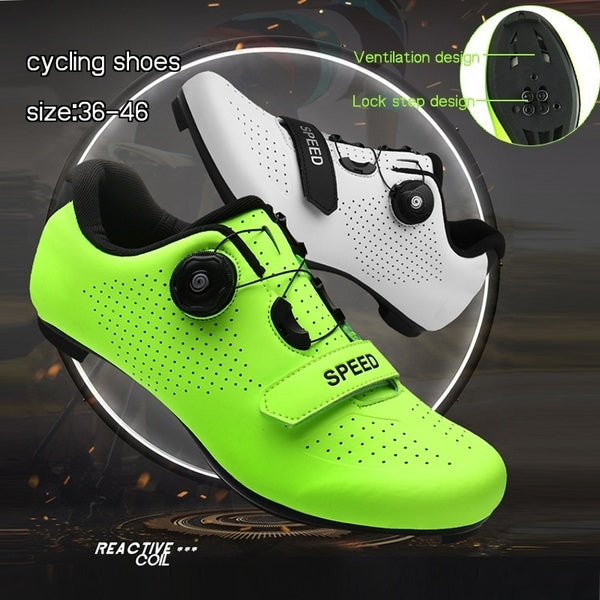 Quick Lace Style Road Bike Cycling Shoe Men Sneakers Women Mountain Bike Shoes Cycling Shoes Road Bike Shoes Lock Cycling Shoes Men Racing Road Bike Bicycle Sneakers Professional Athletic Breathable