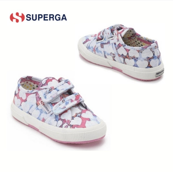 Superga Fuchsia Velcro Girls Tennis Shoe