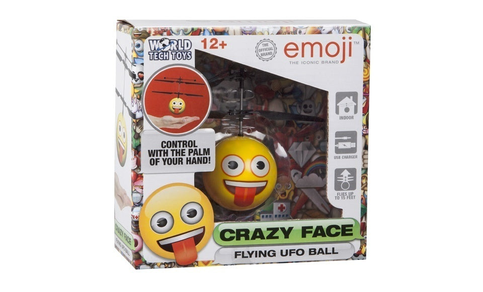 Emoji Crazy Face IR UFO Ball Helicopter