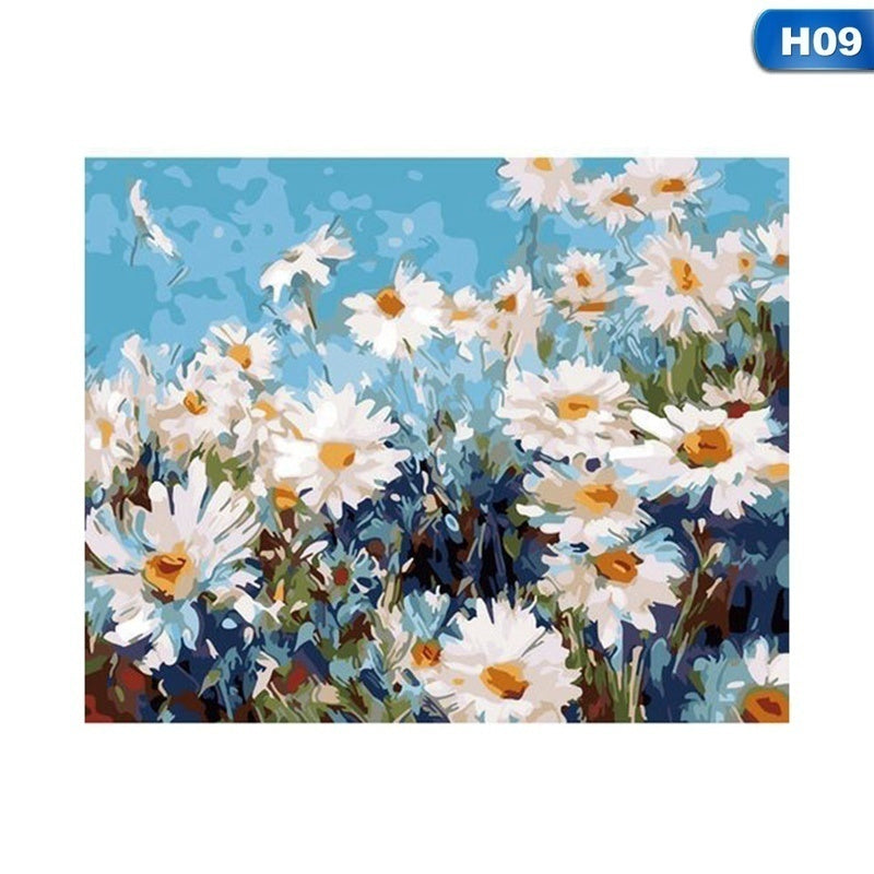 Diy Painting By Numbers For Adults And Kids Diy Oil Painting Gift Kits Pre-Printed Canvas Art Home Decoration